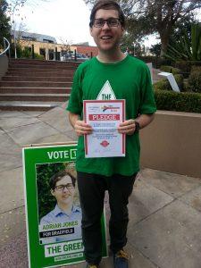 Adrian Jones, Greens for Bradfield
