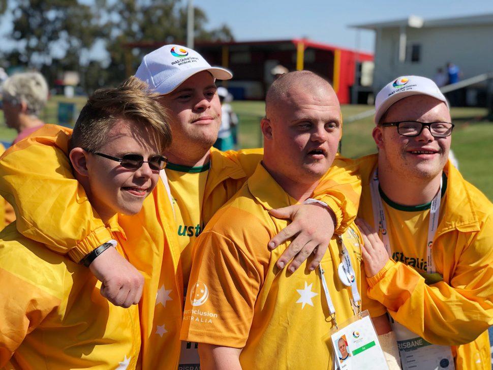 Ben and his teammates at the INAS Global Games.