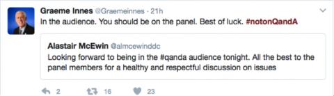 Graeme Innes tweet