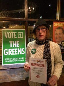 Michaela Sherwood, Greens for Hume