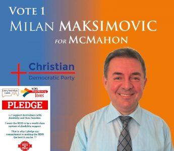 Milan Maksimovic - CDP for McMahon