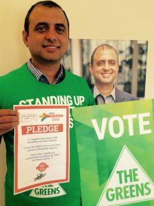 Muhammad Salman, Greens for Burt