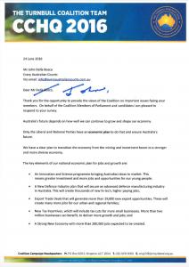 Turnbull Coalition Team