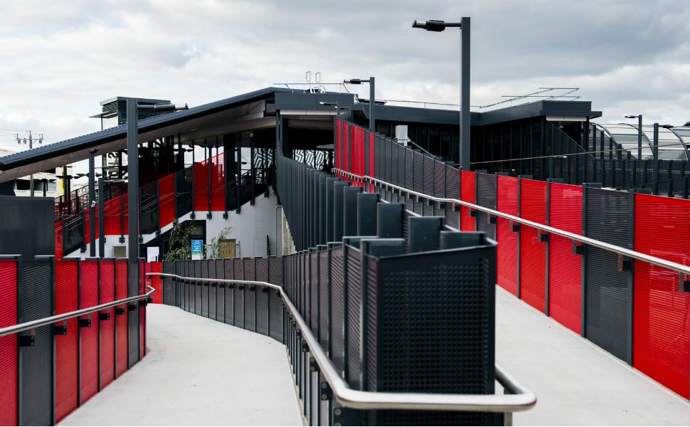 Footscray train station access ramp