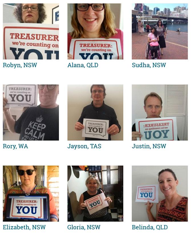 Treasurer selfie photo gallery